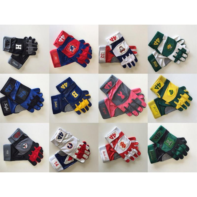custom palm logo batting gloves